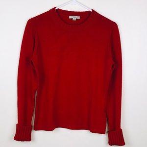 Burberry London Red Wool/Silk Blend Sweater M